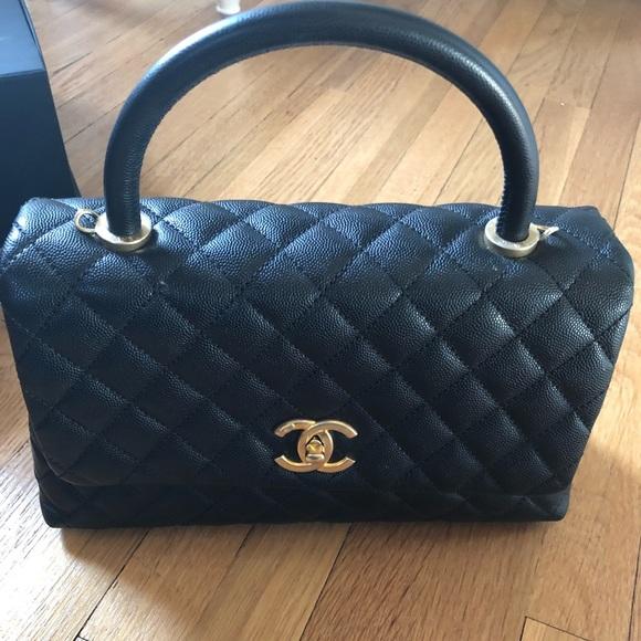 fff67411775e CHANEL Handbags - Black caviar Chanel coco handle